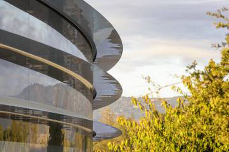 Detalhe do Apple Park.