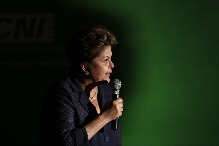 Dilma Rousseff, nesta quarta-feira em Brasília.