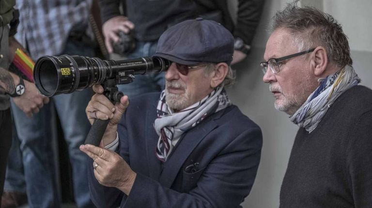 Steven Spielberg, durante a filmagem de 'The Post