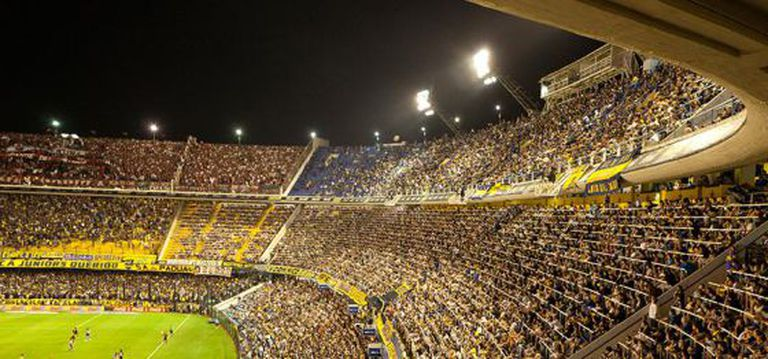 La Bombonera, o estádio do Boca Juniors.