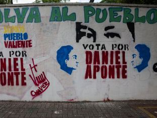Mensagens eleitorais nas ruas de Caracas