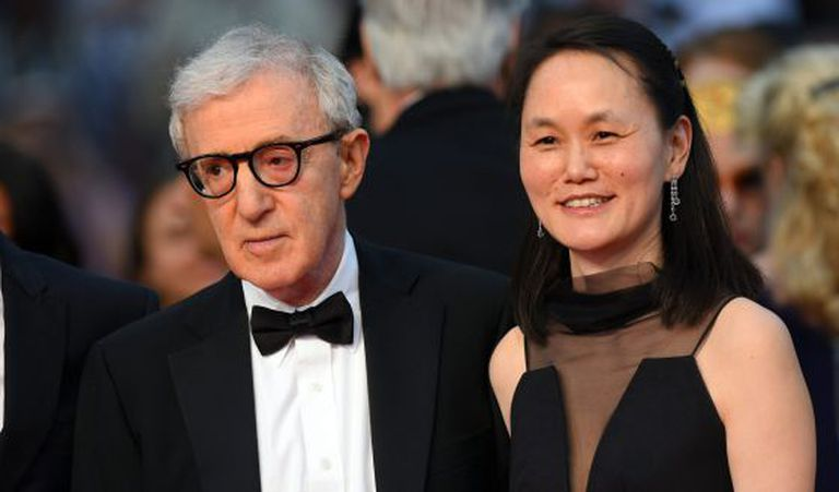 Woody Allen e Soon-Yi no Festival de Cannes.