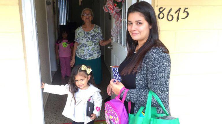 Família Rivera em Porto Rico
