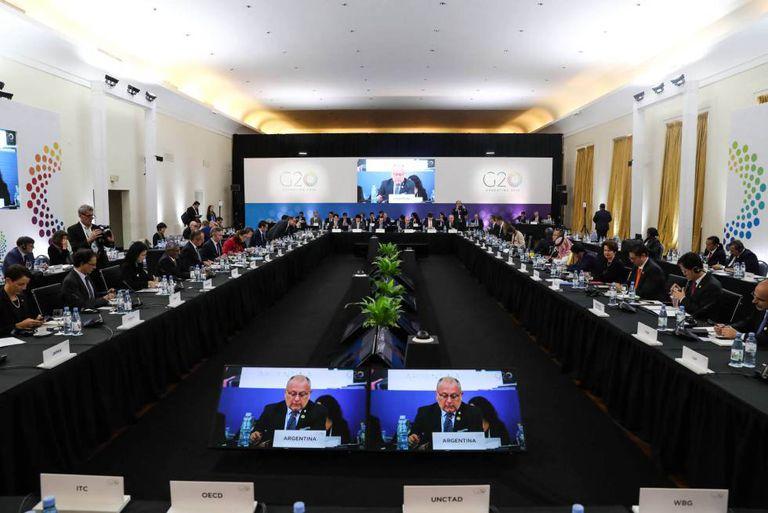 Sessão inaugural da Reunião Ministerial de Comércio e Investimentos do G20.