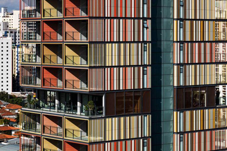 Vista do arranha-céu desenhado pelo escritório B720 em São Paulo.