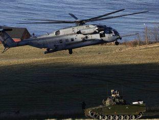 Exercício da OTAN em águas de Trondheim (Noruega), nesta segunda-feira
