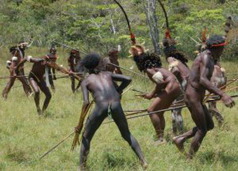Aborígenes em Papua-Nova Guiné.