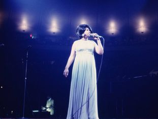 NEW YORK - JUNE 28: Singer Aretha Franklin performs during a concert at Madison Square Garden on June 28, 1968 in New York City, New York. (Photo by Walter Iooss Jr./Getty Images)