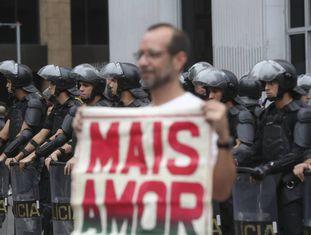 Manifestação pelo Fora Temer neste domingo em São Paulo.