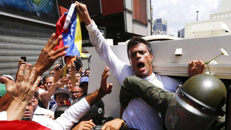 Leopoldo López, parado em 2014.
