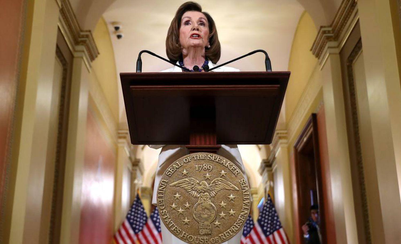 Nancy Pelosi nesta quinta-feira, no Capitólio.