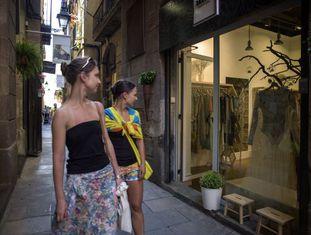 Uma loja na rua Flassaders, em Barcelona.