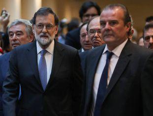 Rajoy chega ao Senado espanhol.