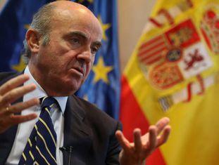 O ministro de Economia da Espanha, Luis de Guindos.