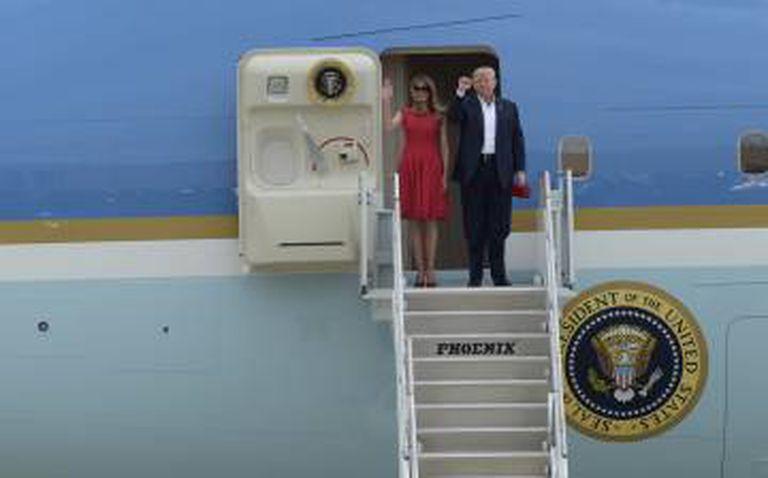 Trump e a primeira-dama
