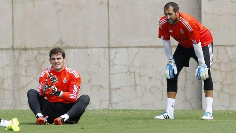 Iker Casillas e Diego López