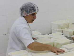 Fábrica de queijos em Santa Catarina.