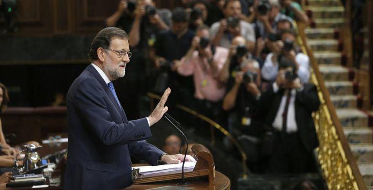Mariano Rajoy, nesta quarta na Câmara.