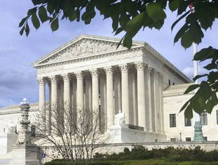 A entrada do tribunal, em Washington, em abril.