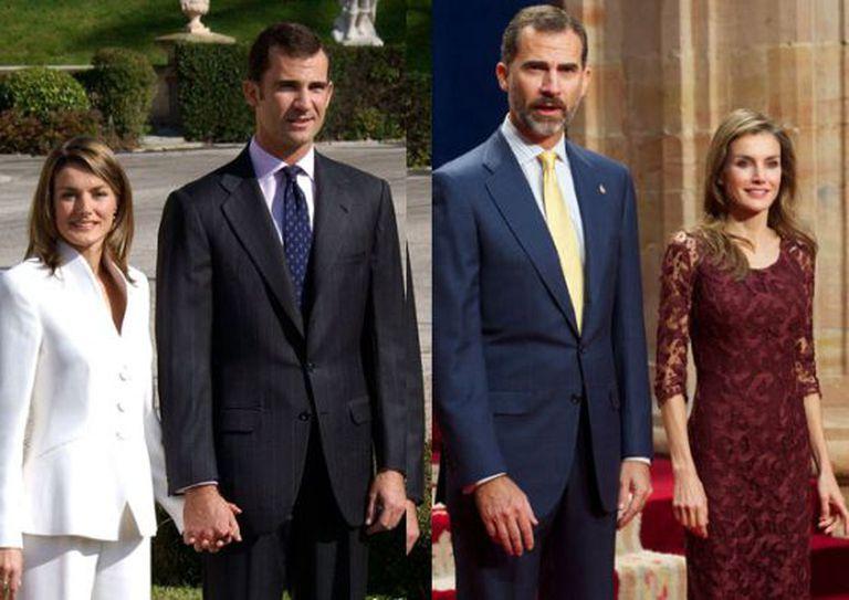 O estilo de Letizia, antes e depois.