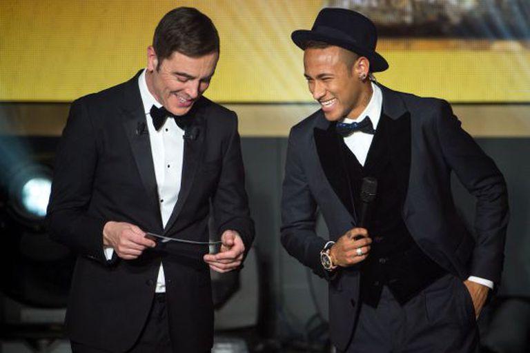 Neymar, na última premiação da Bola de Ouro.