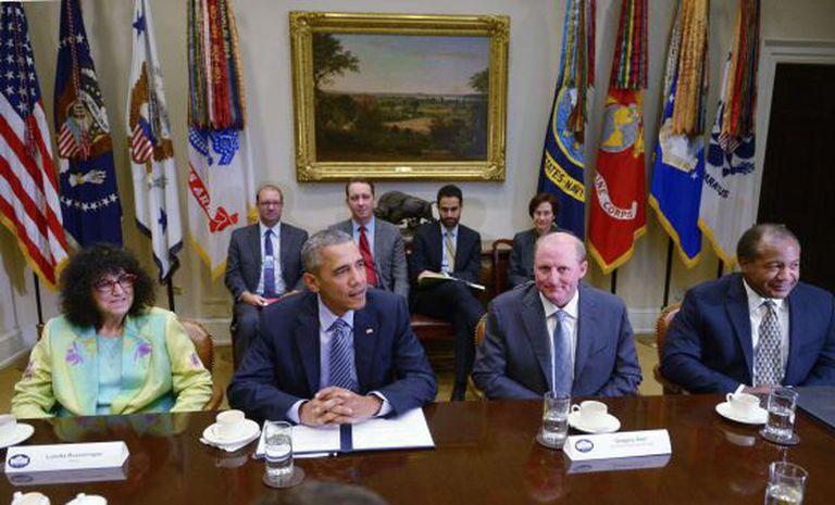 Obama em sua reunião com empresários, na segunda-feira.