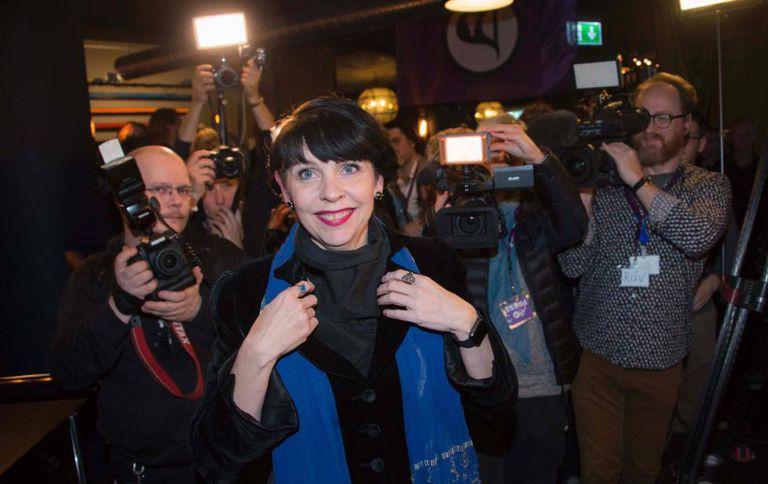 A candidata dos Piratas Birgitta Jonsdottir.
