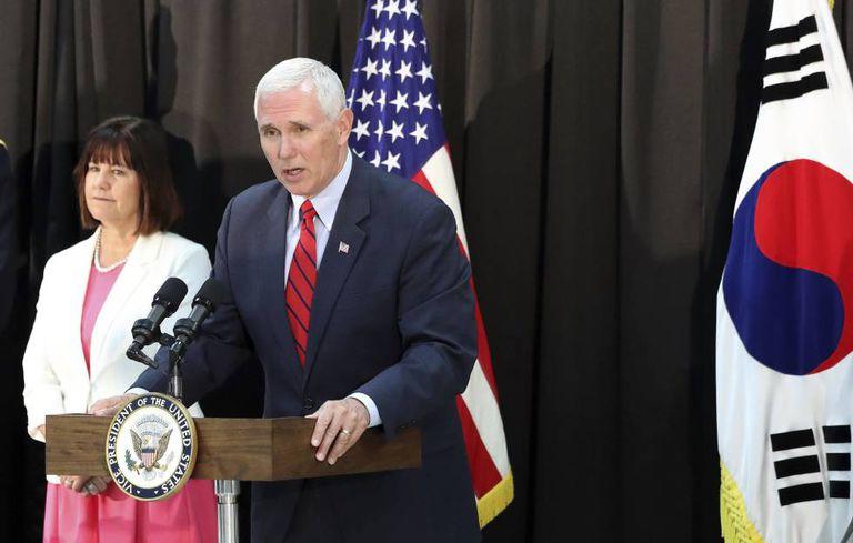 O vice-presidente Mike Pence