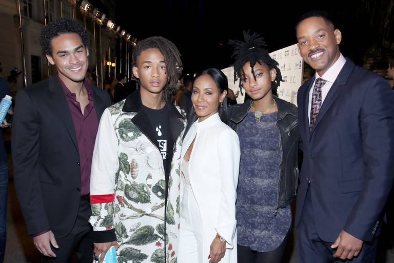 Trey Smith (filho mais velho de Will, de seu primeiro casamento), Jaden Smith, Jada Pinkett Smith, Willow Smith e Will Smith