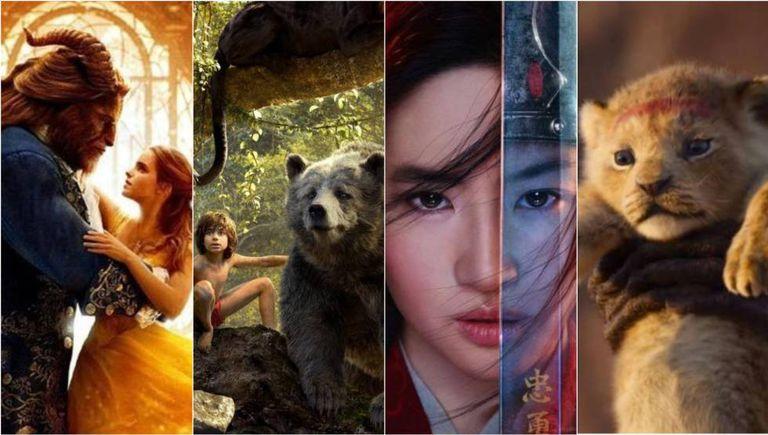 Imagens de alguns dos 'remakes' da Disney.