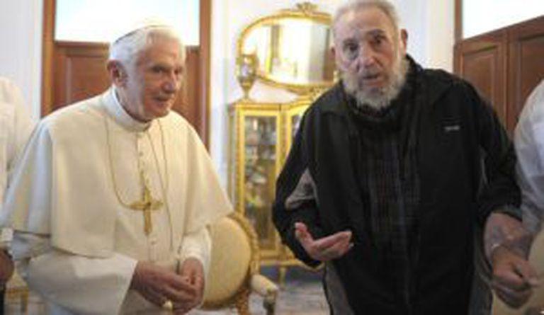 Bento XVI com Fidel Castro em 2012.
