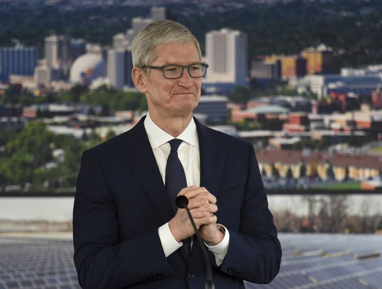 Tim Cook, CEO da Apple, durante uma recente visita a Reno (Nevada).