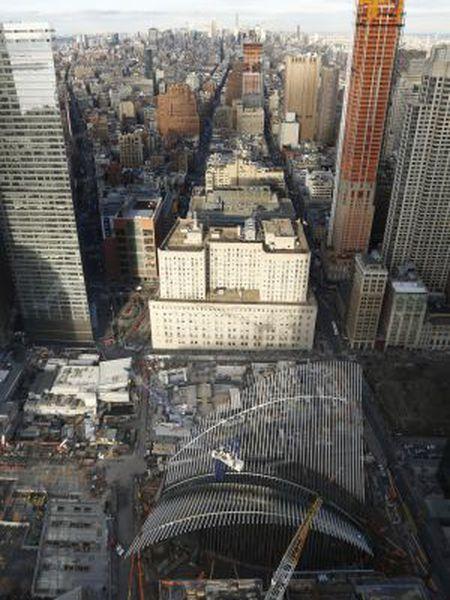 Vista do projeto de Calatrava no marco zero de Nova York.