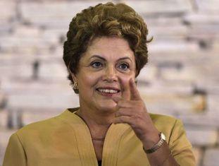 Dilma Rousseff na reunião na Granja do Torto.