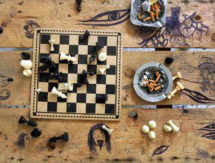 Jogo de xadrez no Líbano.