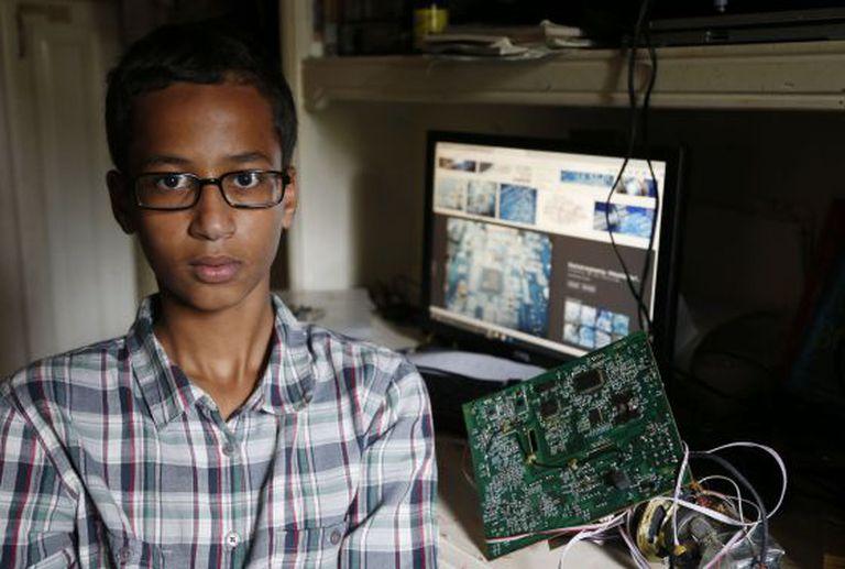 Ahmed Mohamed, em sua casa em Irving, Texas.