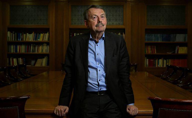 O sociólogo alemão Wolfgang Streeck, na Fundação Ramón Areces, em Madri.