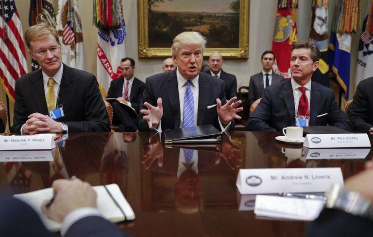 Donald Trump, nesta segunda-feira na Casa Branca.