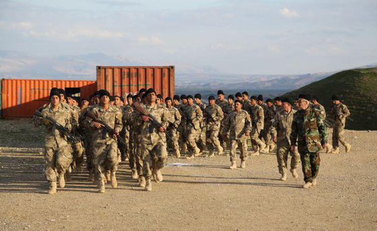 Treinamento com ex-militares dos EUA no Iraque, em foto cedida por Matthew VanDyke.