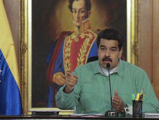 Nicolás Maduro, nesta segunda-feira em Caracas.