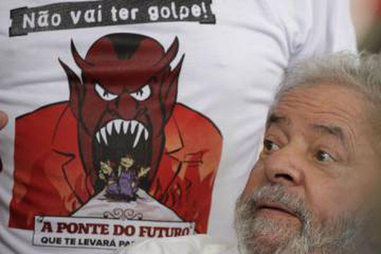 O ex-presidente Lula em evento de movimentos sociais.