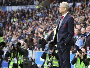 Arsène Wenger antes do jogo do fim de semana passado em Brighton.