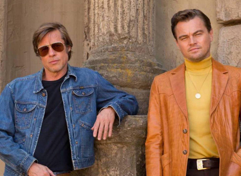 Brad Pitt e Leonardo DiCaprio em 'Era Uma Vez em... Hollywood', o último filme de Quentin Tarantino, que tem Margot Robbie no elenco.