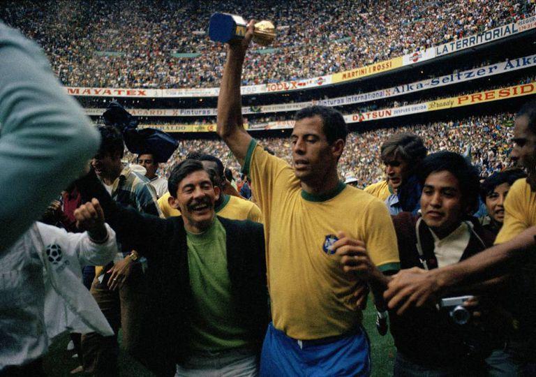 O capitão Carlos Alberto, na Copa de 1970.