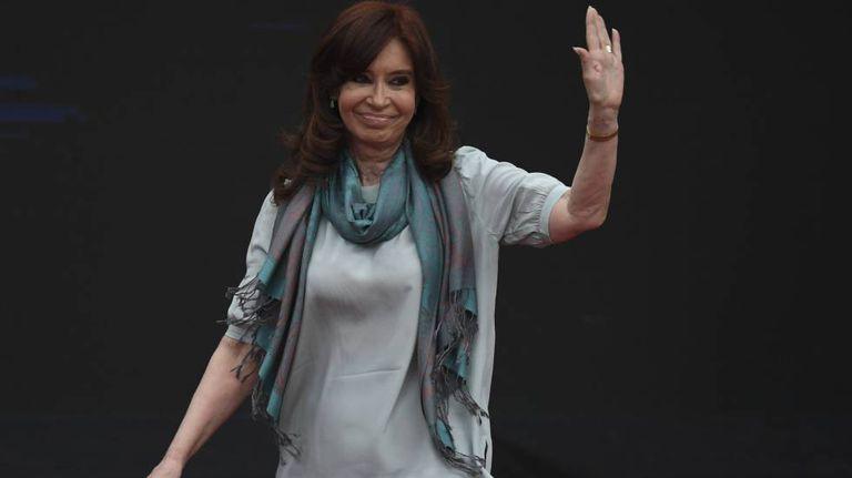 Cristina Kirchner, no estádio Ferro Carril, em Buenos Aires