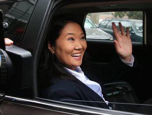 A candidata presidencial Keiko Fujimori nesta terça-feira em Lima.