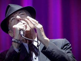 Leonard Cohen durante seu concerto em Madri, em 2012.