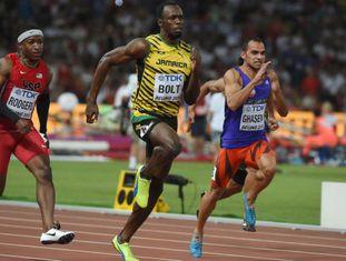 Bolt, durante as séries dos 100m, em Pequim.