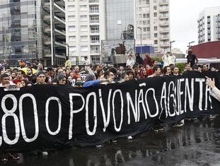 Ato do MPL, na semana passada em São Paulo.