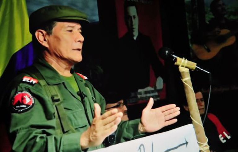 O guerrilheiro Nicolás Rodríguez, conhecido como Gabino.